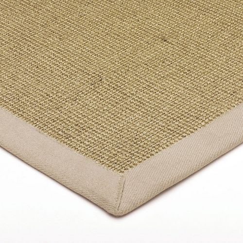 Sisal With Cotton Linen Border Rug